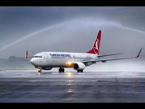 Boeing 737-800 Turkish airlines Landing