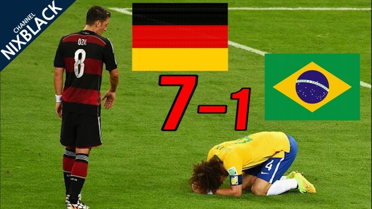 2014 Football world cup semifinal all goals and highlights, Germany vs Brazil