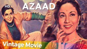 Azaad Indian Movie, Dilip Kumar, Meena Kumari, Pran, Bollywood Classic Movie