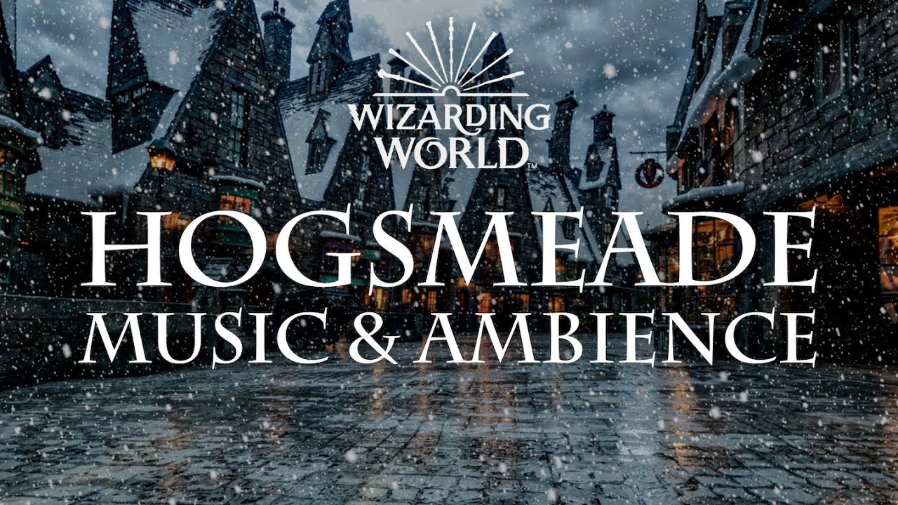 Harry Potter Music And Ambience, Hogsmeade Relaxing Music, Crowd Noise And Snow