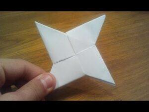How To Make a Paper Ninja Star, Shuriken, Origami