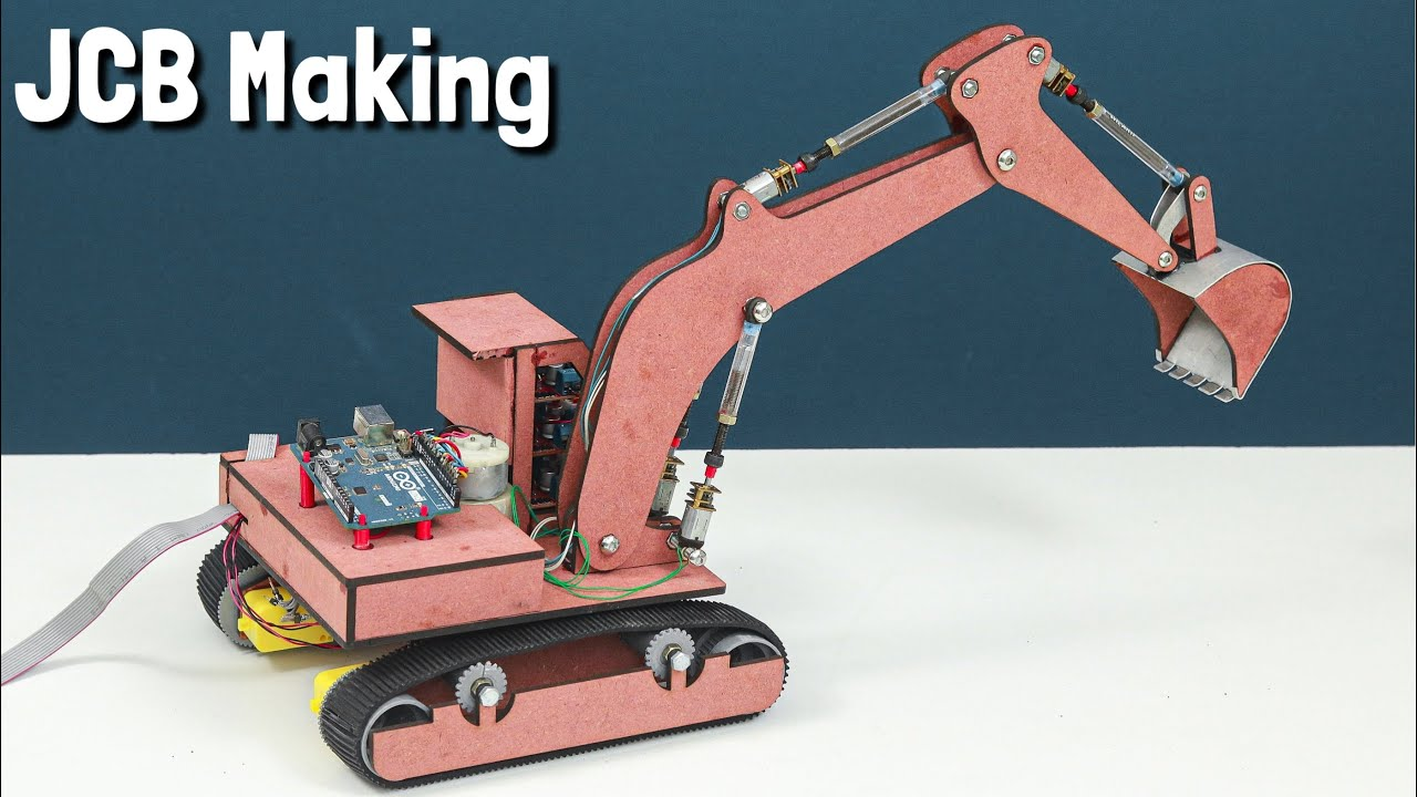How To Make a Remote Control Arduino JCB, Excavator at Home, Arduino Project