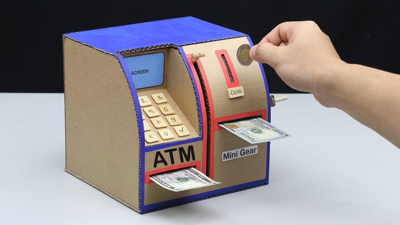How to Make Personal ATM Machine, DIY ATM Machine, No DC Motor