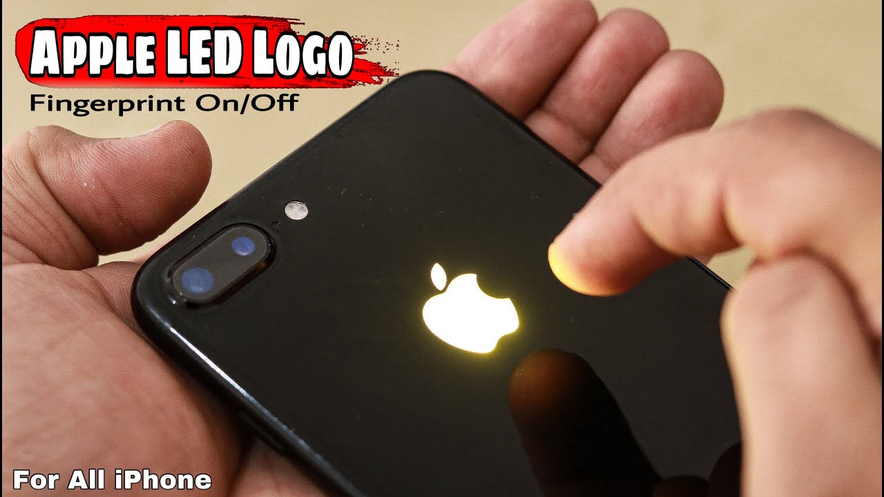 How to make Fingerprint Apple Glowing Logo, iPhone Touch Logo