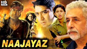 Najaayaz Bollywood Movie, Ajay Devagan, Juhi Chawala, Naseeruddin Shah, 1995